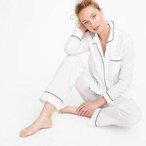 J. Crew Vintage Pajama Set in White